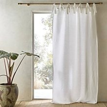 Am.pm Colin Pure Linen Curtain Finished With Knots