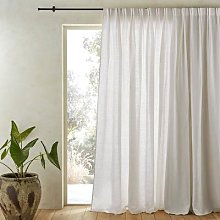 Am.pm Colin Pure Linen Curtain With Flemish Pleats