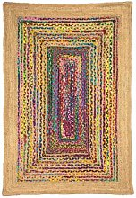 Am.pm Jaco Rug With Jute And Multicolour Cotton