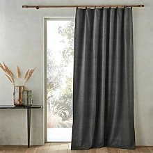 Am.pm Naomyt Wool Mix Single Curtain With Leather