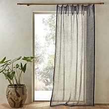 Am.pm Sivy Linen Chambray Voile Curtain