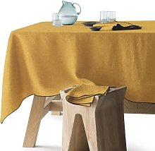 Am.pm Suzy Washed Linen Tablecloth