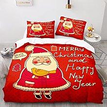 Amacigana Merry Christmas Duvet Cover Santa Claus