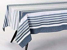 Amadeus Tablecloth, Cotton, Blue/Grey, 2 cm x 34 cm