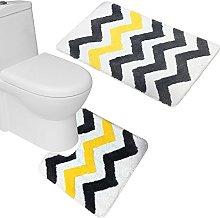 Amagical 2 Piece Microfiber Bath Rug Set Bathroom