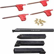 Amagogo 4pcs 12mm Turning Lathe Tool Holder Boring