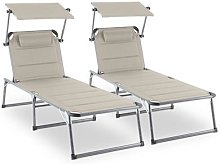 Amalfi Noble Beige Sunlounger set of 2 upholstery