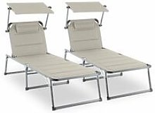 Amalfi Noble Beige Sunlounger set of 2 upholstery