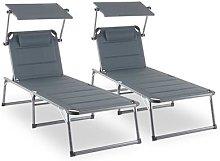 Amalfi Noble Grey Sunlounger set of 2 upholstery