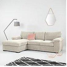 Amalfi Standard 3 Seater Fabric Left Hand Chaise