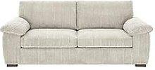 Amalfi Standard Back 3 Seater Fabric Sofa - Silver