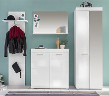 Amanda Hallway Furniture Set In White Gloss With