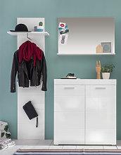Amanda Hallway Furniture Set In White High Gloss