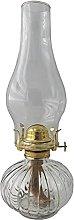 amanigo Large Chamber Oil Lamp - Vintage Glass