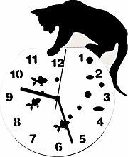 Amaone Wall Clock Classic Cat For Kids Children