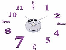 Amaone Wall Clock Silent Non Ticking Stickers For