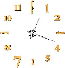 Amaone Wall Clock Stickers 3D Mirror Surface