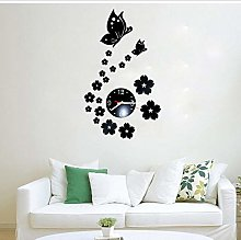 Amaone Wall Clock Stickers Art Decal Butterfly 3D