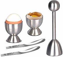 AMAYGA Soft Hard Boiled Egg Cutter Topper Set Egg