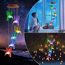 Amazing Wind Chime,Color Changing Solar Mobile