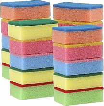 AMAZING1 20 x Multicolour Sponges with Scouring