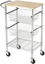 Amazon Basics 3-Tier Metal Basket Rolling Cart