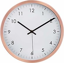 Amazon Basics 30.5 Traditional Wall Clock, Copper