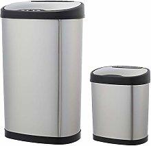 Amazon Basics Automatic Stainless Steel Dustbin