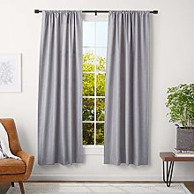 Amazon Basics Curtain Rod with Cap Finials, 91 to