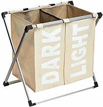Amazon Basics Double Laundry Basket Hamper, Beige