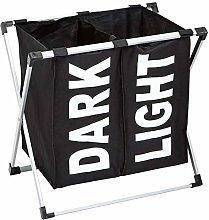 Amazon Basics Double Laundry Basket Hamper, Black