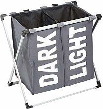 Amazon Basics Double Laundry Basket Hamper, Dark