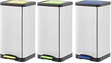 Amazon Basics Dustbin Set of 3 - Yellow, Blue,