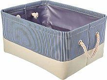 Amazon Basics Fabric Storage Basket with Handles,