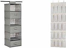 Amazon Basics Hanging Closet Shelf with 3