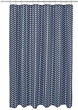 Amazon Basics Herringbone Shower Curtain - Navy