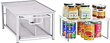 Amazon Basics Mesh Sliding Basket Organizer,
