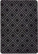 Amazon Basics Printed Foam Rug, Dotted Line - 120