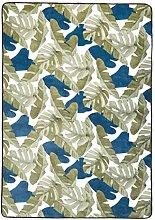 Amazon Basics Printed Foam Rug, Leaves - 140 x 200