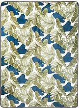 Amazon Basics Printed Foam Rug, Leaves - 160 x 220