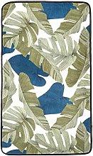 Amazon Basics Printed Foam Rug, Leaves - 60 x 100