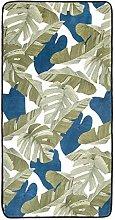 Amazon Basics Printed Foam Rug, Leaves - 70 x 140