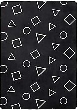 Amazon Basics Printed Foam Rug, Shapes - 140 x 200