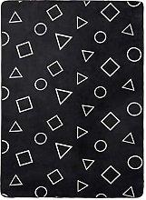 Amazon Basics Printed Foam Rug, Shapes - 160 x 220