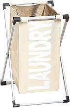 Amazon Basics Single Laundry Basket Hamper, Beige