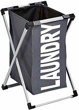 Amazon Basics Single Laundry Basket Hamper, Dark