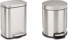 Amazon Basics Stainless Steel Dustbin with Manual