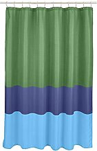 Amazon Basics Striped Shower Curtain - Grass Green
