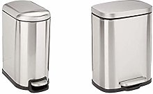 Amazon Basics Trash can, 10L & Stainless Steel