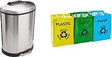 Amazon Basics Trash can, 50L & Premier Housewares
